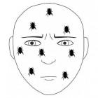 Formicatie: gekriebel op huid, alsof er beestjes over lopen