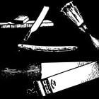 Baard scheren met een klassiek open scheermes