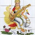 De Hindoegodin Saraswati: beschermster van taal en cultuur